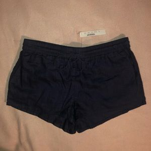 NWT J.Crew Linen Drawstring Cover-Up Shorts - Navy
